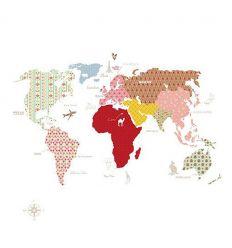 """mr perswall - carta da parati pannello """"whole wide world"""" (bianco)"""