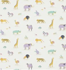 "sanderson - wallpaper animals of ark ""two by two"" (vintage multi)"