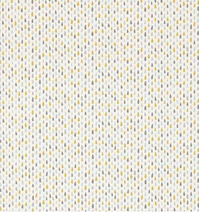 scion - fabric raindrops splish splash (slate/pickle/paper)