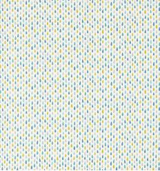 scion - fabric raindrops splish splash (citrus/ocean/lagoon)