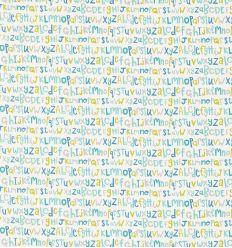 scion - tessuto d'arredo alfabeto letters play (citrus/denim/lagoon)