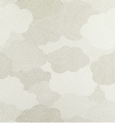 "casadeco - wallpaper polka dot clouds ""nuage pois"" (grey)"