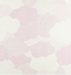 "casadeco - carta da parati nuvole a pois ""nuage pois"" (rosa)"