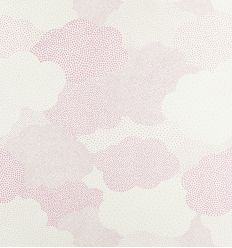 "casadeco - wallpaper polka dots clouds ""nuage pois"" (pink)"