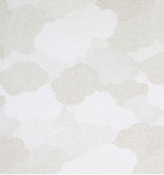 casadeco - tessuto per tende nuvole a pois (grigio)