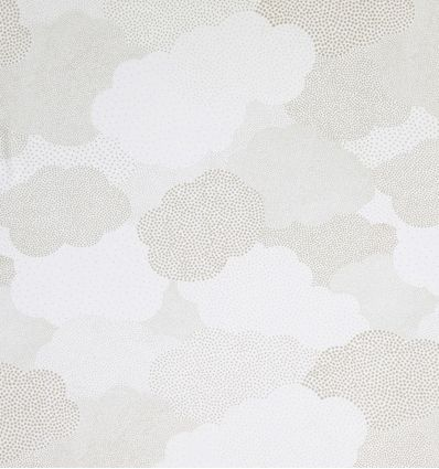 casadeco - curtains fabric polka dots clouds nuages (grey)