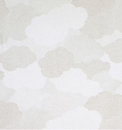 casadeco - tessuto d'arredo per tende nuvole a pois nuages (grigio)