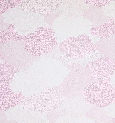 casadeco - tessuto per tende nuvole a pois (rosa)