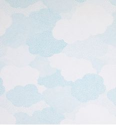 casadeco - curtains fabric polka dots clouds nuages (light blue)