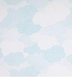 casadeco - tessuto per tende nuvole - celeste