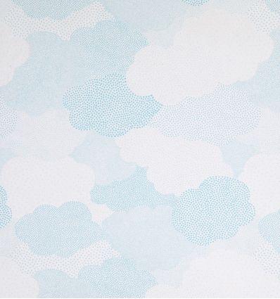 casadeco - curtains fabric clouds - light blue