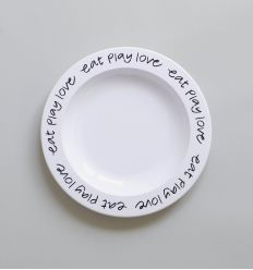 b+b - eat play love plate