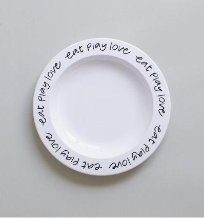 b+b - eat play love plate