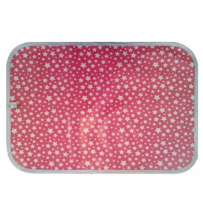 linna morata - tovaglietta stelle (rosa)