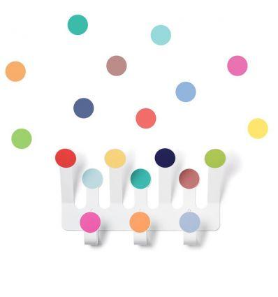 tresxics - dots wall hanger + sticker (multicolor)