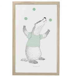 bloomingville - frame with 'juggler badger'
