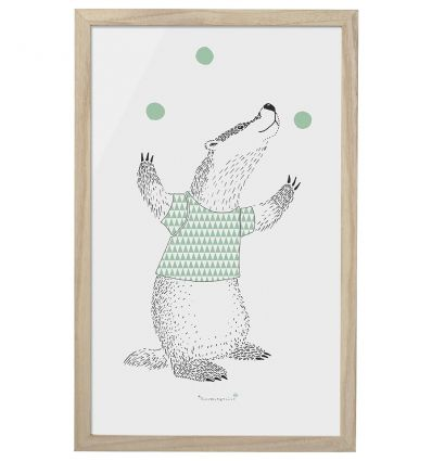 bloomingville - frame with 'juggler badger'