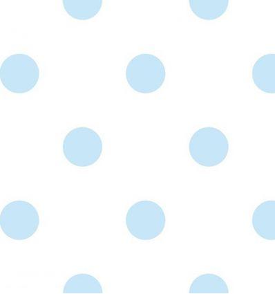 jannelli & volpi - carta da parati pois grande (azzurro)