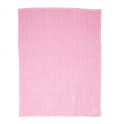 farg form - blanket - pink/white dotty
