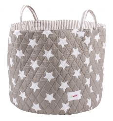 minene - large storage basket stars (grey/white)