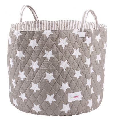 minene - large storage basket - grey/white stars