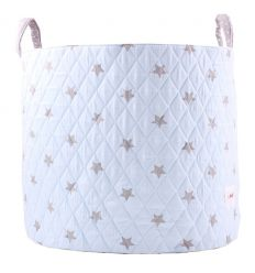 minene - large storage basket - light blue/white stars