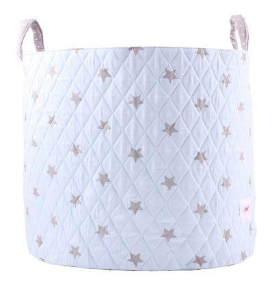 minene - large storage basket - light blue/white stars