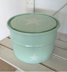 storage box star - mint green