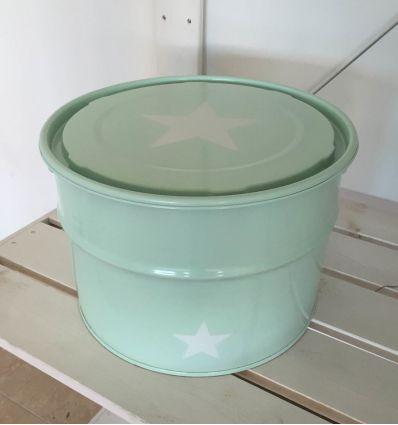 storage box star - mint green