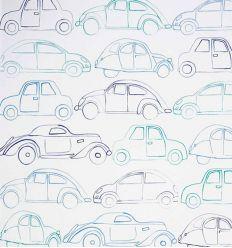 camengo - carta da parati con macchine voitures