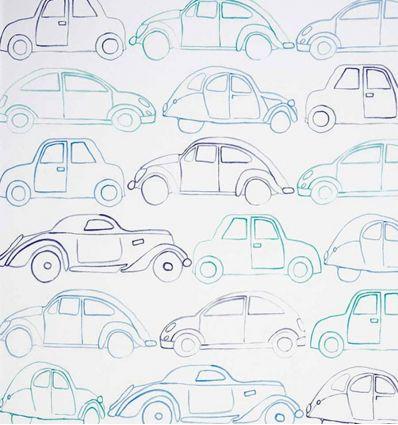 "camengo - carta da parati macchine ""voitures"""