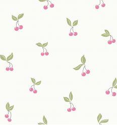 borastapeter - carta da parati ciliege - rosa