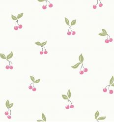 borastapeter - wallpaper cherries - pink