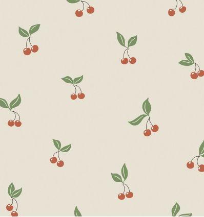 borastapeter - carta da parati ciliege - rosso