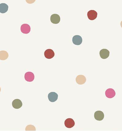 borastapeter - wallpaper polka dot - pink