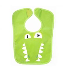 déglingos - reversible bib aligatos the crocodile