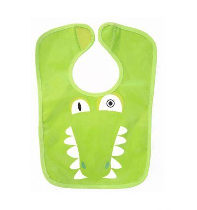 déglingos - reversible bib aligatos the crocodile