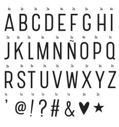 a little lovely company - lightbox basic letter set (black)