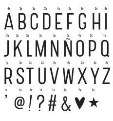 a little lovely company - lightbox basic letter set (black)