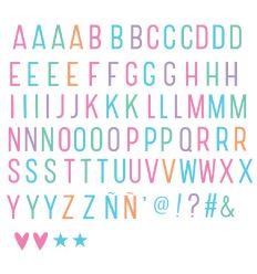 a little lovely company - set 85 lettere e simboli per lightbox (nero)