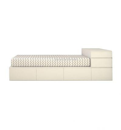 lagrama - letto kubox easy way 3 elementi + comodino