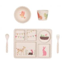 love mae - bamboo dinner set woodland