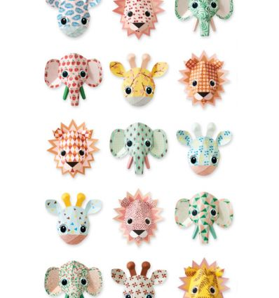studio ditte - carta da parati wild animals (sweet)