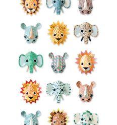 """studio ditte - pannello carta da parati """"wild animals cool"""""""