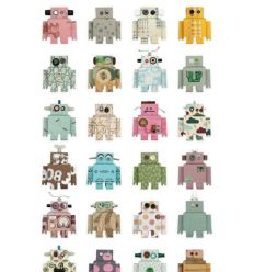 studio ditte - carta da parati robot