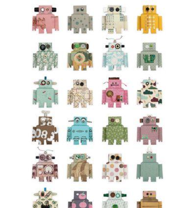 """studio ditte - pannello carta da parati """"robot"""""""
