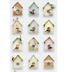 "studio ditte - wall print wallpaper ""birdhouse"""