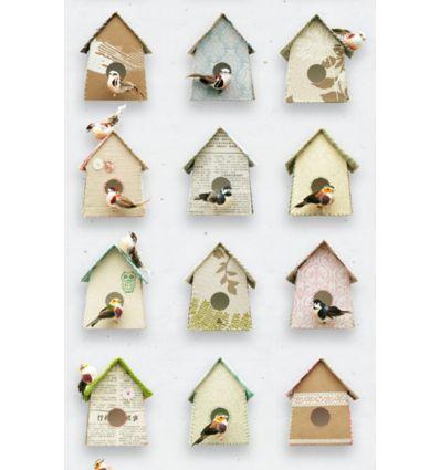 """studio ditte - pannello carta da parati """"birdhouse"""""""