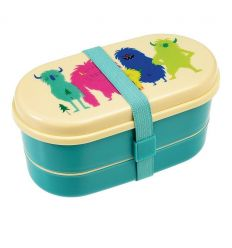 lunch box with cutlery (monsters of the world)