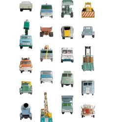 "studio ditte - pannello carta da parati ""work vehicles"""